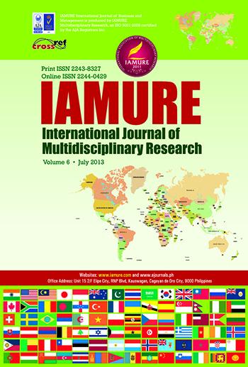 E-Journal | IAMURE International Journal of Multidisciplinary