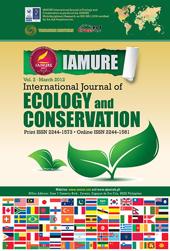 E-Journal | IAMURE International Journal of Ecology and Conservation