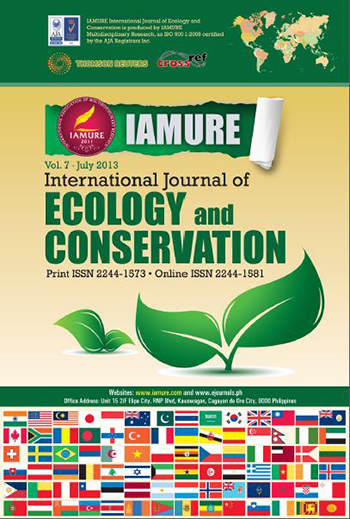 E-Journal | IAMURE International Journal of Ecology and