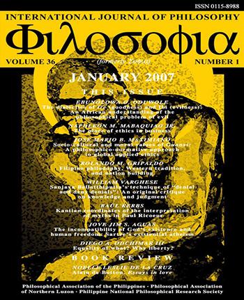 E-Journal | Φιλοσοφια: International Journal of Philosophy vol  36