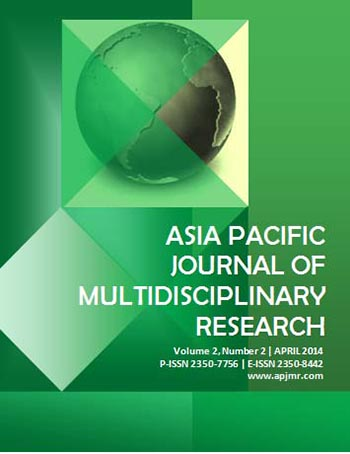 E-Journal | Asia Pacific Journal of Multidisciplinary Research vol
