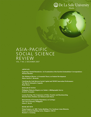E-Journal   Asia-Pacific Social Science Review vol  7, no  2