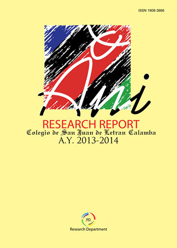 E-Journal | Ani: Letran Calamba Research Report vol  2, no  1 (2015)