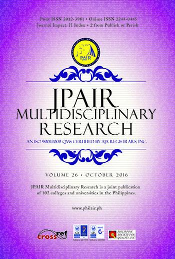 E-Journal | JPAIR Multidisciplinary Research Journal vol  28